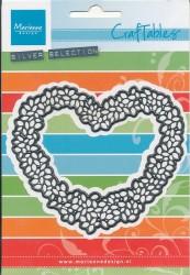 Marianne Design snij- en embosmal Topiary Heart CR1302 (Locatie: T143)