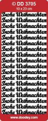 Stickervel zilver Frohe Weihnachten DD3705 (Locatie: C145)