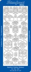 Starform sticker cadeau zilver 1051 (Locatie: J239)