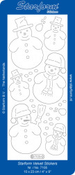 Starform sticker sneeuwpoppen velvet groen 7105 (Locatie: C304)