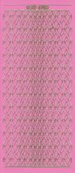 Stickervel roze/goud nr.XP 6903 (Locatie: K115)