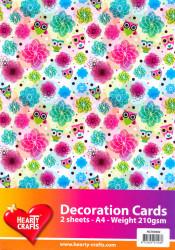 Decoratie Kaart uilen 2 vel / 210 gram HC763602 (Locatie: 2609)