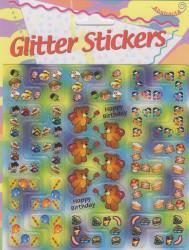 Abstracta glitter stickers verjaardag (Locatie: 1315)