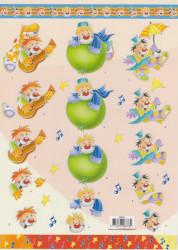 Voorbeeldkaarten knipvel clown 8678 (Locatie: 5929)