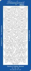 Starform sticker goud vlinders 124 (Locatie: Q159 )