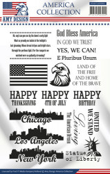 Amy Design Clear Stamp America Collection USACS10001 (Locatie: K119)