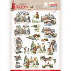 Amy Design knipvel nostalgie kerstmis CD11559 (Locatie: 1564)
