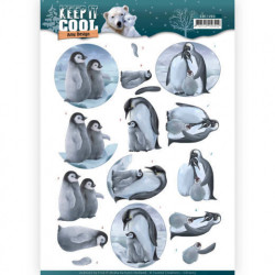 Amy Design knipvel pinguins CD11203 (Locatie: 0439)