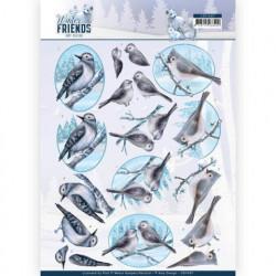 Amy Design knipvel winter vogeltjes CD11407 (Locatie: 2375)