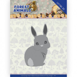 Amy Design snijmal Forest Animals - Bunny ADD10235 (Locatie: M143)