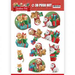 Amy Design stansvel kerstmis honden, katten en konijnen SB10462 (Locatie: 0939)