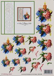 Ann's paper art knipvel bloemen 3DSS10001 (Locatie: 507)