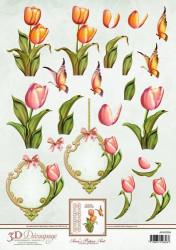 Ann's Paper Art knipvel Tulpen APA3D006 (Locatie: 2849)
