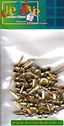 Brads rond goud 50 stuks 10829/95 (Locatie: 1A )