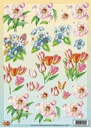 Card Deco knipvel bloemen CD10127 (Locatie: 2366)