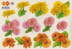 Card Deco knipvel bloemen HJ0302 (Locatie: 0931)
