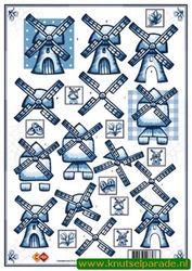 Card Deco knipvel molen CD 10090 (Locatie: 0111)