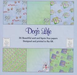 Dog's Life Paperpack, 36 vellen 6 designs, 15x15 cm