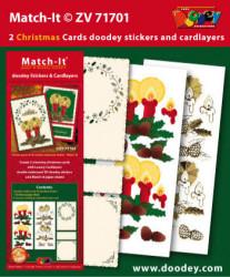 Doodey kaartenpakket om kerstkaarten te maken met 3D stickers en oplegkaarten ZV71701 (Locatie: 4545)