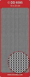 Doodey Stickers randje Parels Rood DD6595 (Locatie: A194 )