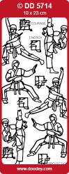 Doodey stickervel karate zilver DD5714 (Locatie: u223)