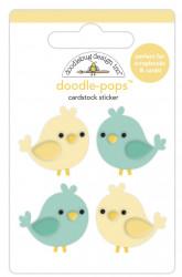 Doodlebug Design 3D sticker, 2.5x2.5cm, tweethearts, 6581 (Locatie: c038)