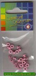 Eyelets roze 25 stuks nr. 20407/27 (Locatie: 5RC1 )