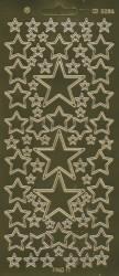 Find It stickervel glanzend goud sterren CD3096 (Locatie: e006)