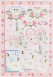 Fleur knipvel huwelijk/zwanen E8 (Locatie: 2542)