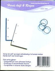 Harde kaft en ringen adresboekje ADB 1600 (Locatie: D36 )