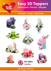 Hearty Crafts Easy 3D Toppers - candles HC10001 (Locatie: K2)