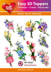 Hearty Crafts Easy 3D -Toppers - Spring Flowers HC10525 (Locatie: 5R)
