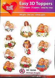 Hearty Crafts Easy 3D Toppers - Vintage angels HC10296 (Locatie: 5R)