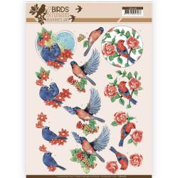 Jeanine's Art knipvel vogels en bloemen CD11218 (Locatie: 4604)