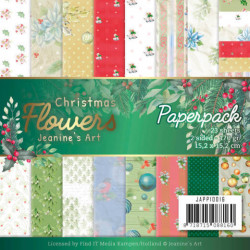Jeanine's Art, Paper Pad, 15,2 x 15,2 cm, Christmas Flowers, JAPP10016