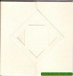 Lomiac kaart zigzag met ruit ivoor 3 stuks LC3142 (Locatie: Y044 )