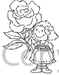 Marianne Design clear stamp flowergirl EC 0123 (Locatie: H314 )