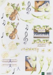 Marianne design knipvel muziek MB0103 (Locatie: 5818)