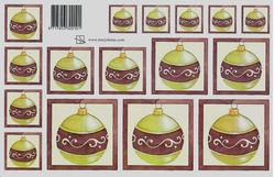 Marjoleine knipvel kerstbal groen (Locatie: 2347)