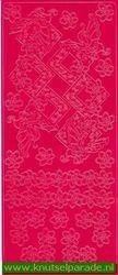 Mireille stickervel roze vlinder 0652 (Locatie: A119)