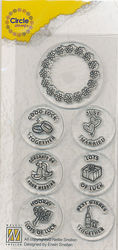 Nellie Circle Clear Stamps English texts - Marriage CCSM002 (Locatie: I617)