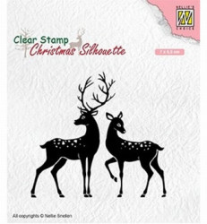 Nellie Snellen Clear Stamp Christmas Silhouette Deer CSIL006 (Locatie: NN233)