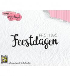 Nellie Snellen clear stamp Prettige Feestdagen DTCS023 (Locatie: NN054)