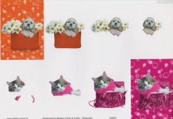 Nielsen Cards knipvel honden en katten KA003 (Locatie: 1638)