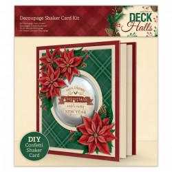 Papermania kerstmis kaartenpakket, voor 1 schudkaart, PMA169964 (Locatie: 5850)