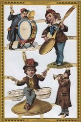 Poezieplaatjes Muzikanten Nostalgisch (2) MLA74 (Locatie: MP026 )