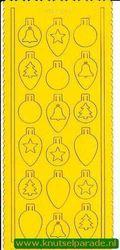 Pop-outs kerstballen 2 stuks geel SPS8701 (Locatie: J265 )