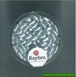 Rayher kralen zilvergrijs 6x3 mm nr. 16 474 08 (Locatie: 3GL6 )