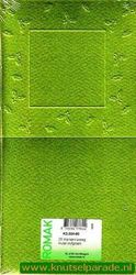 Romak vierkantekaart preeg hulst olijf groen k2 304 60 (Locatie: 2RK4 )