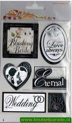 Scrapbook sticker huwelijk 12105-0502 (Locatie: N192)